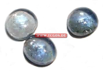 "Glas Token ""Chrome - blue"" (25)"