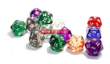 "PEG Dice ""W20 - jewel mixed color"" (1)"