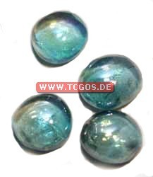 "Glas Token ""Chrome - aqua"" (25)"