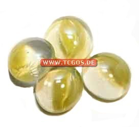 "Glas Token ""Murmelmuster - yellow"" (25)"