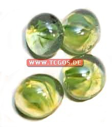 "Glas Token ""Murmelmuster - green/small"" (25)"