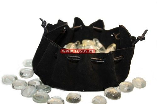 "PEG Dice-Storage ""Black Buckskin Bag"""