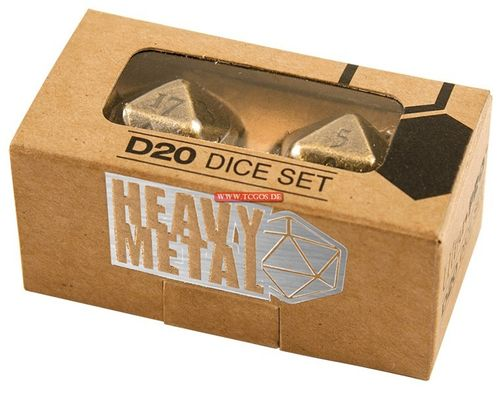 "UP Dice ""W20 Heavy Metal - metal/zinc-antique"" (2)"