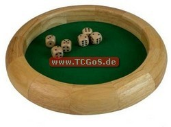 "BF Dice-Rolling ""Wooden Tray and W6 - wood/nature"" (30cm)"