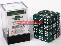 "BF Dice ""W6 Set - marbled dark green - 12mm"" (36)"