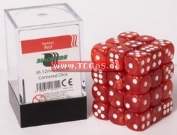 "BF Dice ""W6 Set - marbled red - 12mm"" (36)"