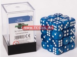 "BF Dice ""W6 Set - marbled light blue - 12mm"" (36)"