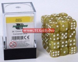 "BF Dice ""W6 Set - marbled yellow - 12mm"" (36)"