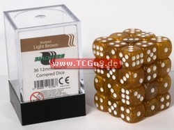 "BF Dice ""W6 Set - marbled light brown- 12mm"" (36)"