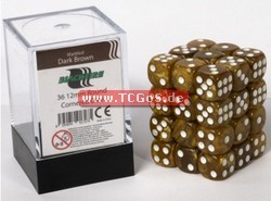 "BF Dice ""W6 Set - marbled dark brown - 12mm"" (36)"