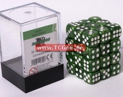 "BF Dice ""W6 Set - marbled jade green - 12mm"" (36)"