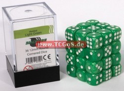 "BF Dice ""W6 Set - marbled light green - 12mm"" (36)"