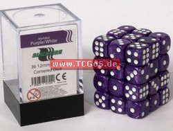 "BF Dice ""W6 Set - marbled purple - 12mm"" (36)"