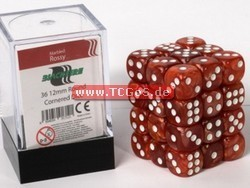 "BF Dice ""W6 Set - marbled rossy - 12mm"" (36)"