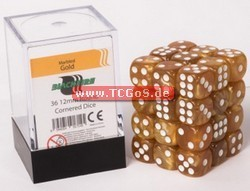 "Blackfire Dice ""W6 Set - marbled gold - 12mm"" (36)"