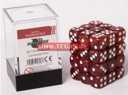 "Blackfire Dice ""W6 Set - marbled pearlized red - 12mm"" (36)"