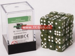 "Blackfire Dice ""W6 Set - marbled pearlized green - 12mm"" (36)"