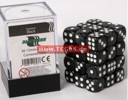 "BF Dice ""W6 Set - marbled black - 12mm"" (36)"