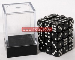 "Blackfire Dice ""W6 Set - opaque black - 12mm"" (36)"