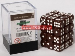 "Blackfire Dice ""W6 Set - opaque brown - 12mm"" (36)"