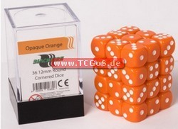 "Blackfire Dice ""W6 Set - opaque orange - 12mm"" (36)"
