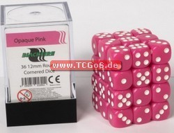 "Blackfire Dice ""W6 Set - opaque pink - 12mm"" (36)"
