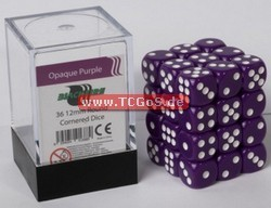 "BF Dice ""W6 Set - opaque purple - 12mm"" (36)"
