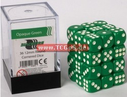 "BF Dice ""W6 Set - opaque green - 12mm"" (36)"